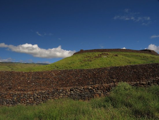 Kawaihae, Χαβάη: View of preserved walls and Heiau