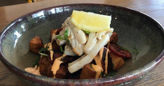 Belmont, Australia: Spring menu: Squid Salad
