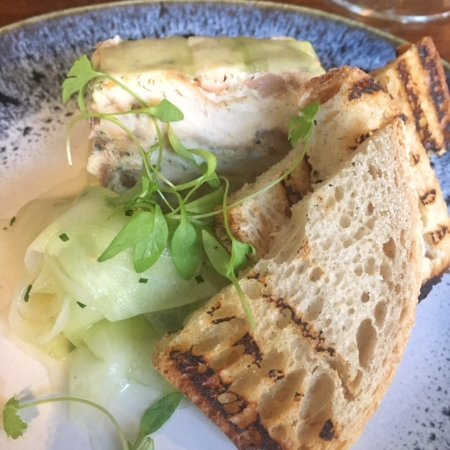 Burwell, UK: Smoked Mackerel with Pickled Cucumber & Sourdough