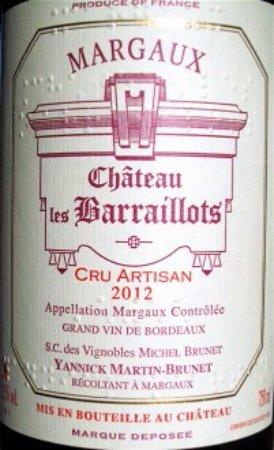 Château les Barraillots: Etiquette en braille