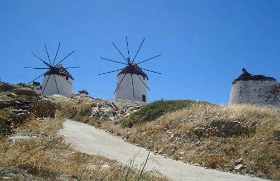 Chora, กรีซ: mills