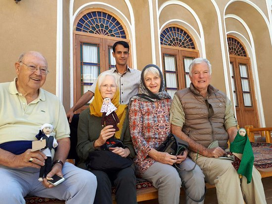 Our guests with traditional dolls of Ardakan.