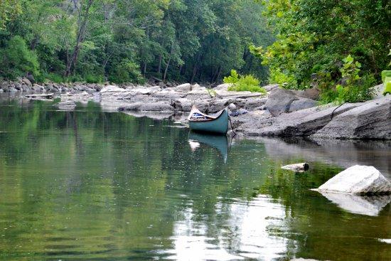Alderson, Wirginia Zachodnia: River view from tent site