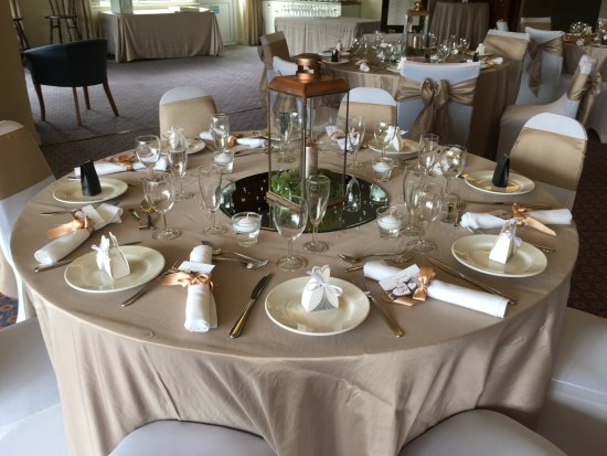 Table settings for wedding reception - Picture of Alderley Edge Golf ...