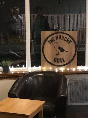 Staffin, UK: The hungry gull logo inside the restaurant