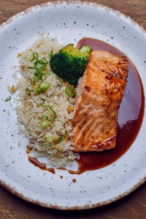 Voluntari, Romania: Our best seller- salmon teriyaki