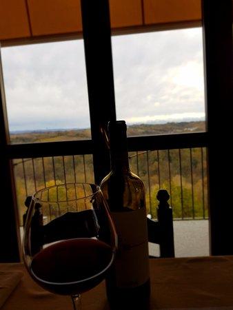 Monta, Italien: Utsikt med Roero vin