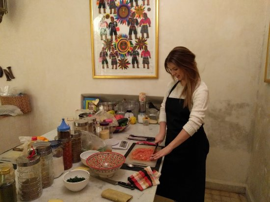 House of Fusion Marrakech: Cooking station