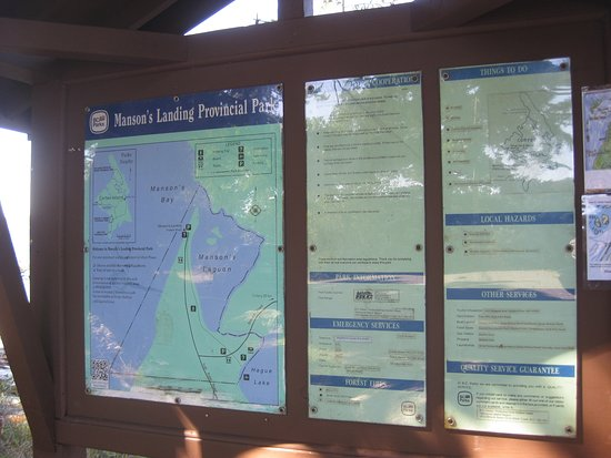 Mansons Landing, Canada: Park map posted at Manson's Landing.