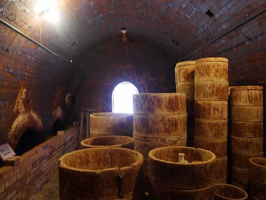 Ureshino, Japon : 窯の中の様子