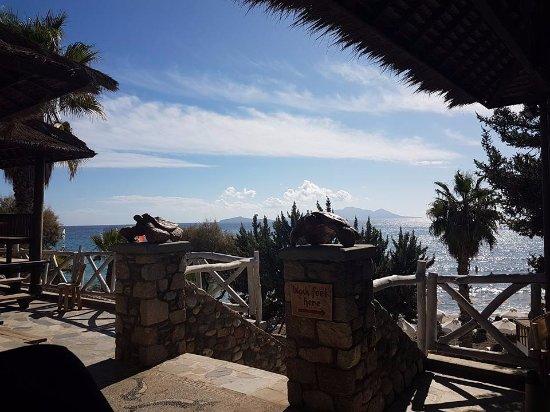 Kefalos, Grecia: view from snack bar