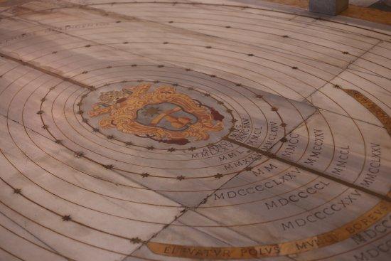 Basilica di Santa Maria degli Angeli e dei Martiri : meridian solar line