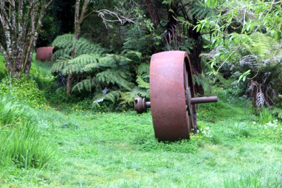 Waihi, Yeni Zelanda: As noted, even the wreckage looks cool.