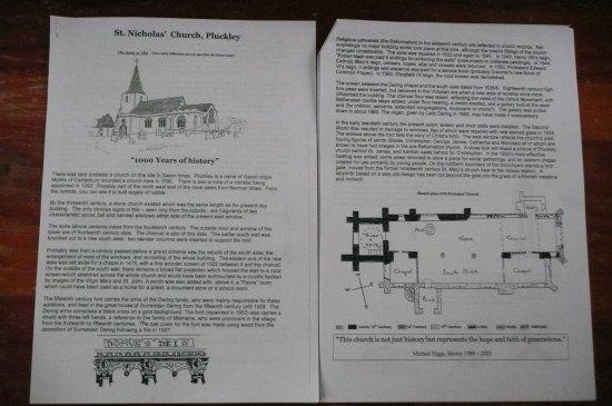 Pluckley, UK: church information sheet