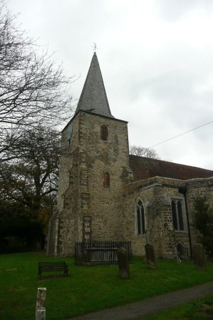 Pluckley, UK: the church