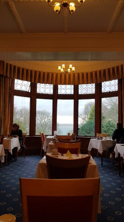 Treloyhan Manor Hotel: Superb viewss from the dining room