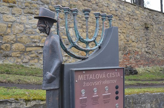 The Mlada Boleslav Metail trail at the Jewish cemetry