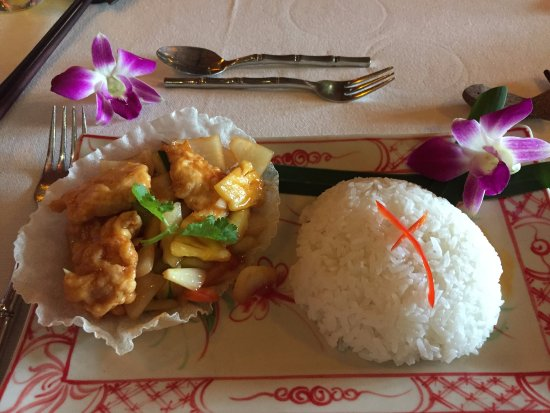 Madame Butterfly: Sweet & Sour Chicken and Steam Jasmine Rice
