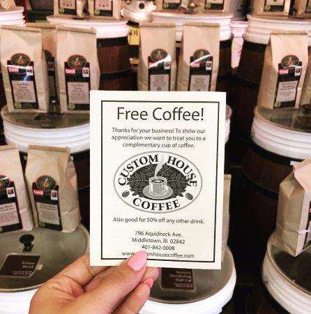 มิดเดิลทาวน์, โรดไอแลนด์: Customer Appreciation coupons. 1st of every month
