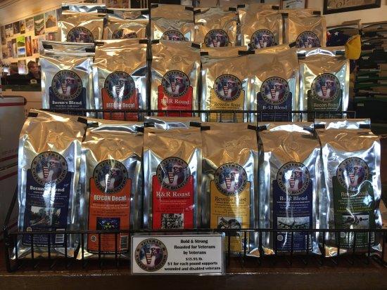 มิดเดิลทาวน์, โรดไอแลนด์: Veteran Coffee Roasters. $1/ lb goes to support Veteran's organizations