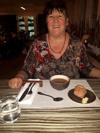 Le Restaurant Le Monastere des Augustines: me enjoying the meal