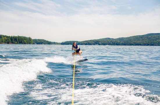 Warrensburg, NY: Water skiing on Lake George