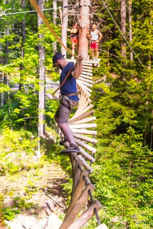 Warrensburg, NY: The fun and challenging ropes course nearby