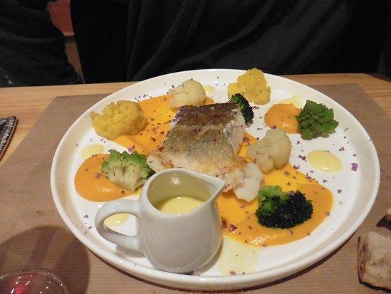 Embrun, France: cabillaud cuisson basse température