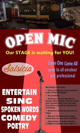 ‪‪Marikina‬, الفلبين: OPEN MIC Ladies and Gentlemen! Showcase your talent 🎤🎸🎭🎼 This is open to all performers!‬