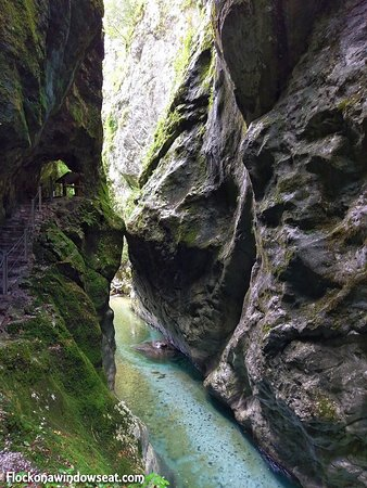 Tolmin Gorge: It like a scene from the games of Myst or Riven