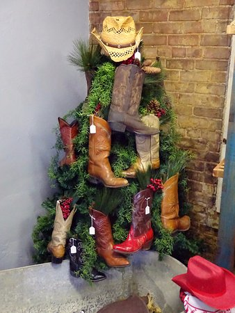 Vienna, IL: Cowboy Boot Christmas Tree For Sale