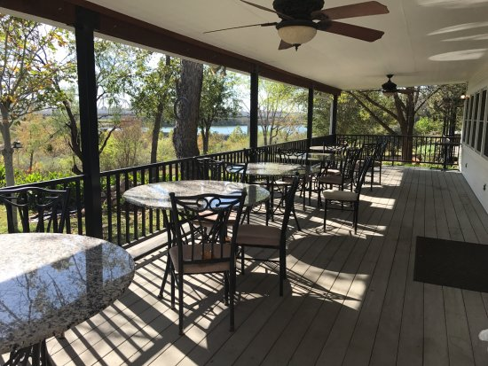Our back deck overlooking the Llano River and bridge.