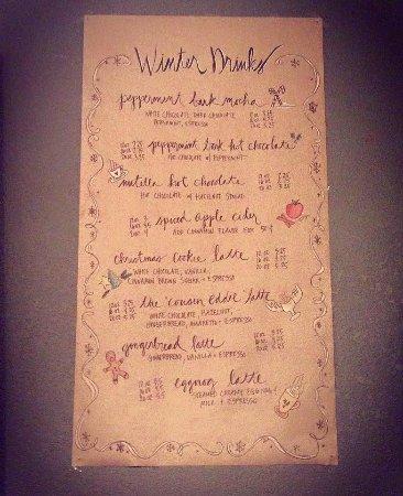 Ripon, Висконсин: The ever-anticipated WINTER DRINK menu.