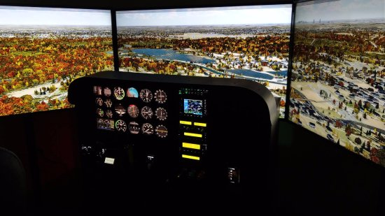 Canton, MA: We run our Single-Engine sim on 3 4K monitors