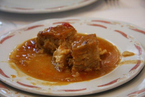 Villarrubio, España: Tortilla en salsa