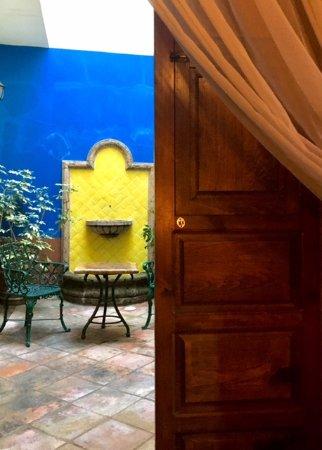 Meson de Santa Elena: Our private patio off our room