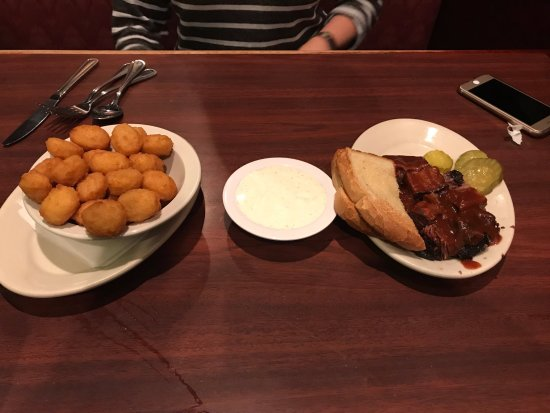 Independence, MO: Sweet corn nuggets and burnt ends