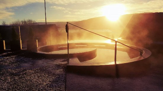 Reykholt, Island: Enjoy the majestic winter sun in our geothermal pools at Krauma.