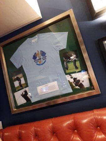 Washington, UK: ... Surrounded by Sports Memorabilia ...