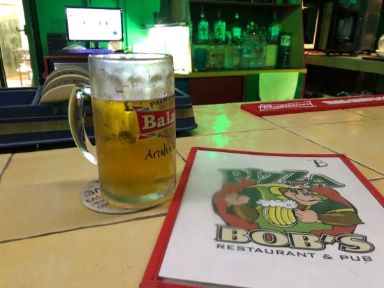 Pizza Bob's: Best place to get some food and a nice cold tap beer.