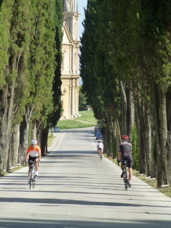 Pienza, Italy: Road outside of Montipulciano
