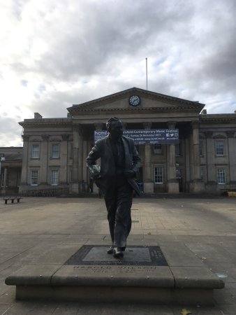 Former Labour Party politician and Prime Minister. Remembered in Huddersfield with larger than l