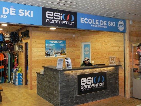 Saint-Chaffrey, ฝรั่งเศส: Le bureau de l'Ecole de ski à Serre Chevalier