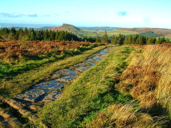 Great Ayton, UK: View toward Roseberry Topping from Captain Cooks Monument