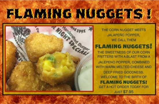 Niffer's Place: Add a kick to your favorite Niffer's appetizer! Corn Nuggets but with jalapenos and cheese!