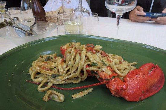 Montelupo Fiorentino, Italy: tagliatelle con astice