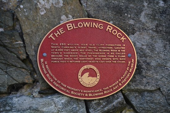 Dedication of The Blowing Rock!