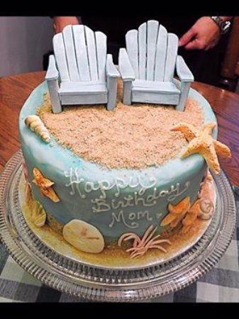 Williams Lake, Canada: Beach theme cake