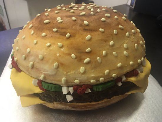 Williams Lake, Canada: Burger, made with buttercream icig