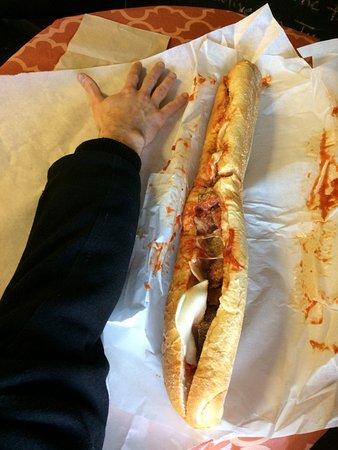 Merrimack, NH: meatball sub as long as your arm
